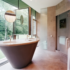 Master Bath. Photo by Albert Vecerka | ESTO.