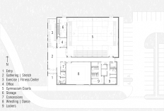 John D. Brown Athletic Center Floor Plan │ Image by Bradley Walters.
