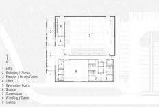 John D. Brown Athletic Center Floor Plan │ Image by Bradley Walters.