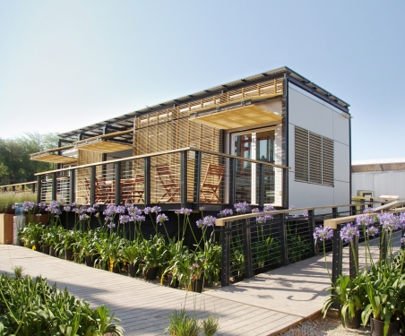 Project RE:FOCUS, as constructed in Madrid, Spain for the 2010 Solar Decathlon Europe │ Photo by David To.