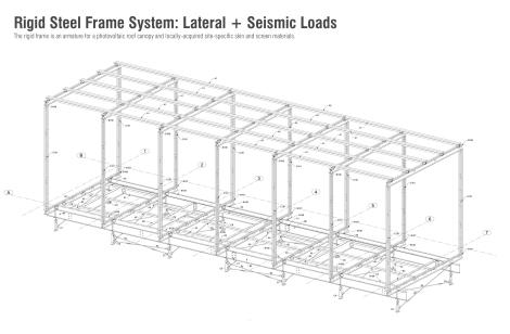 Rigid Steel Frame System. Image by Bradley Walters.