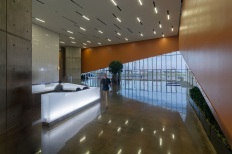 Lobby and reception area. Photo by: Barbara Hillier.