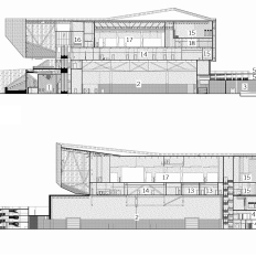 Representative building sections. Drawings by: Sal Tomasiello, Barbara Hillier, and Bradley Walters.