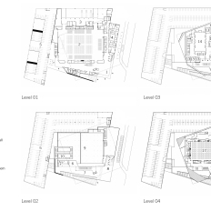Principal floor plans. Drawings by: Sal Tomasiello, Barbara Hillier, and Bradley Walters.