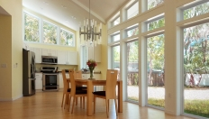 Dining Area, with Kitchen beyond. Image: Bradley Walters.