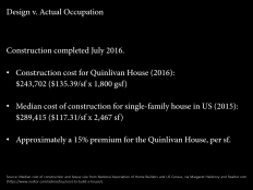 Construction Cost Comparisons. Image: Bradley Walters.