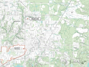 Site Location Map, Gainesville, Florida USA. Image: Bradley Walters.